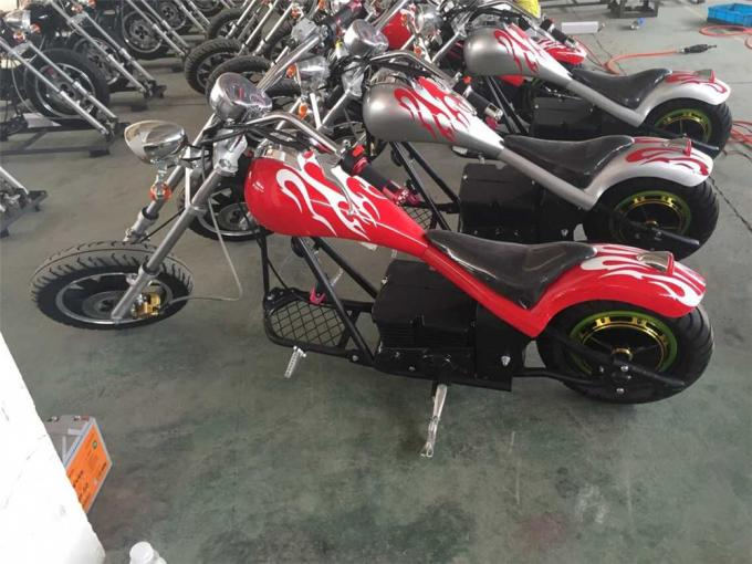 Yellow Coolest Harley Electric Motorcycles 60Km / H With 48V 500W Motor