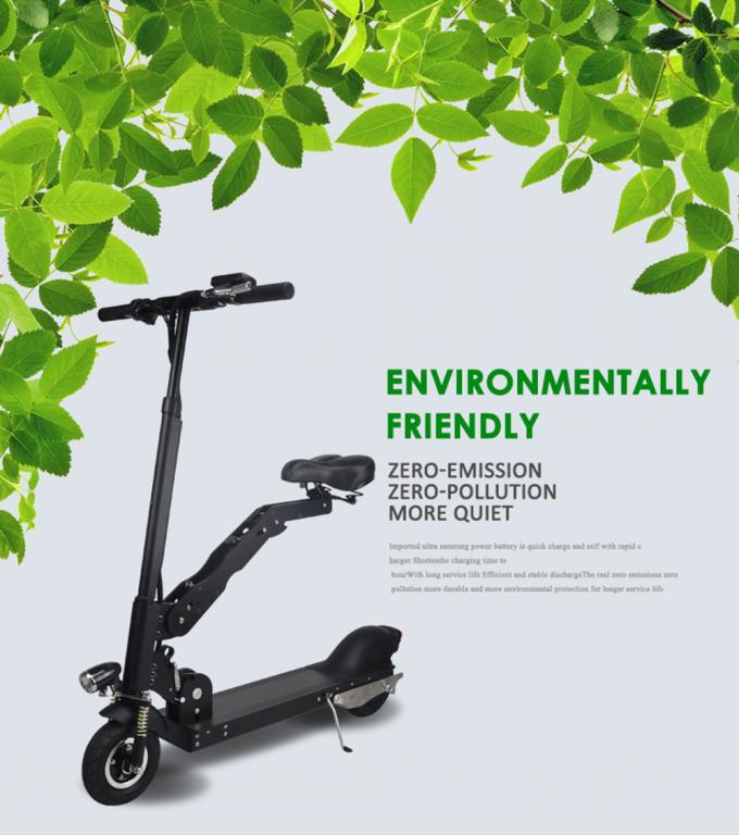 Portable Folding Electric Scooter For Adult / Folding Seat Motorized Electric Scooter
