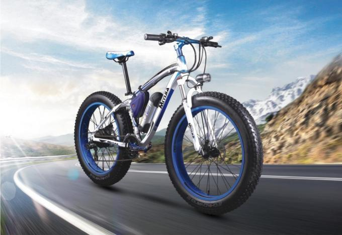 Snow 26''-4.0 Tire Mountain Electric Bike Rear Motor 48V 500W SHIMANO 21 Speed