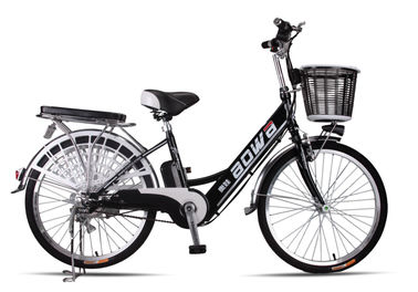 48V Womens Hybrid City Lithium Bicycle , Electric Assisted Bicycle With Electric Motor