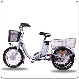 China CE Approved 36V 250W White Electric Tricycles Lithium Battery 3 Wheel Electric Bike supplier
