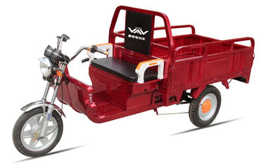 China Battery Power Electric Cargo Trike Red 3 Wheel Tricycle 6-8 Hours Charge Time supplier