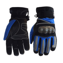 China Palm - Microfiber Electric Motorcycle Parts Blue / Black Electric Motorcycle Gloves supplier