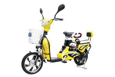 China 350W 6 T Adult Electric Bike with Pedals / Intelligent Electric Powered Bicycle supplier