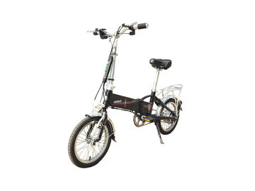 China 14 Inch Hybrid Folding Electric Bike , Foldable Electric Bicycle With Lithium Battery factory