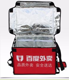 China 100L waterproof insulated Pizza Takeaway Bags Food Delivery box Hot Food Thermal Backpack factory