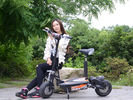 China 48V Two Wheel Electric Scooter For Adults / 1000W Electric Moped Scooter factory
