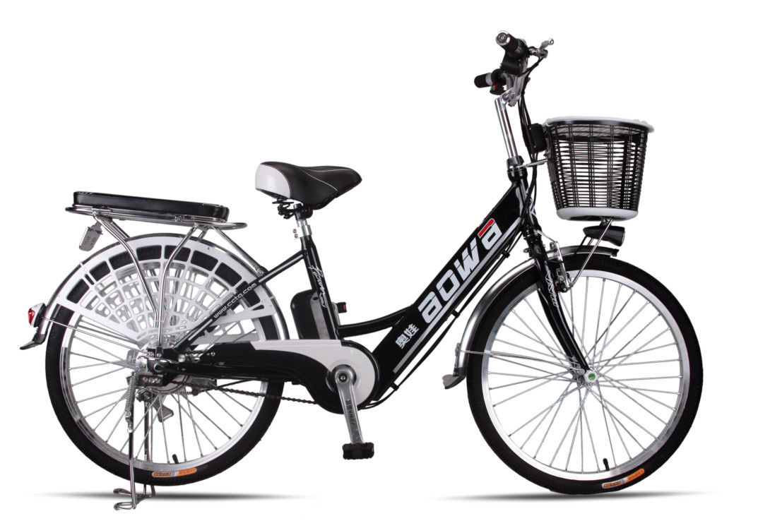48V Womens Hybrid City Lithium Bicycle , Electric Assisted Bicycle With Electric Motor supplier