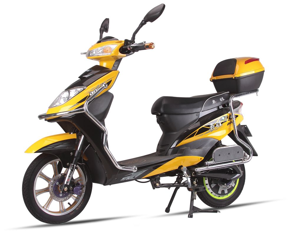 Aowa 2 wheel adult electric scooter 150 kg yellow for Motorized scooters for adults
