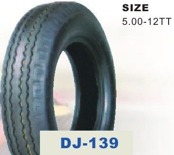 Electric Tricycle Parts 5.00 - 12 Three Wheel Motorcycle Tire with 37%-56% Rubber Content supplier