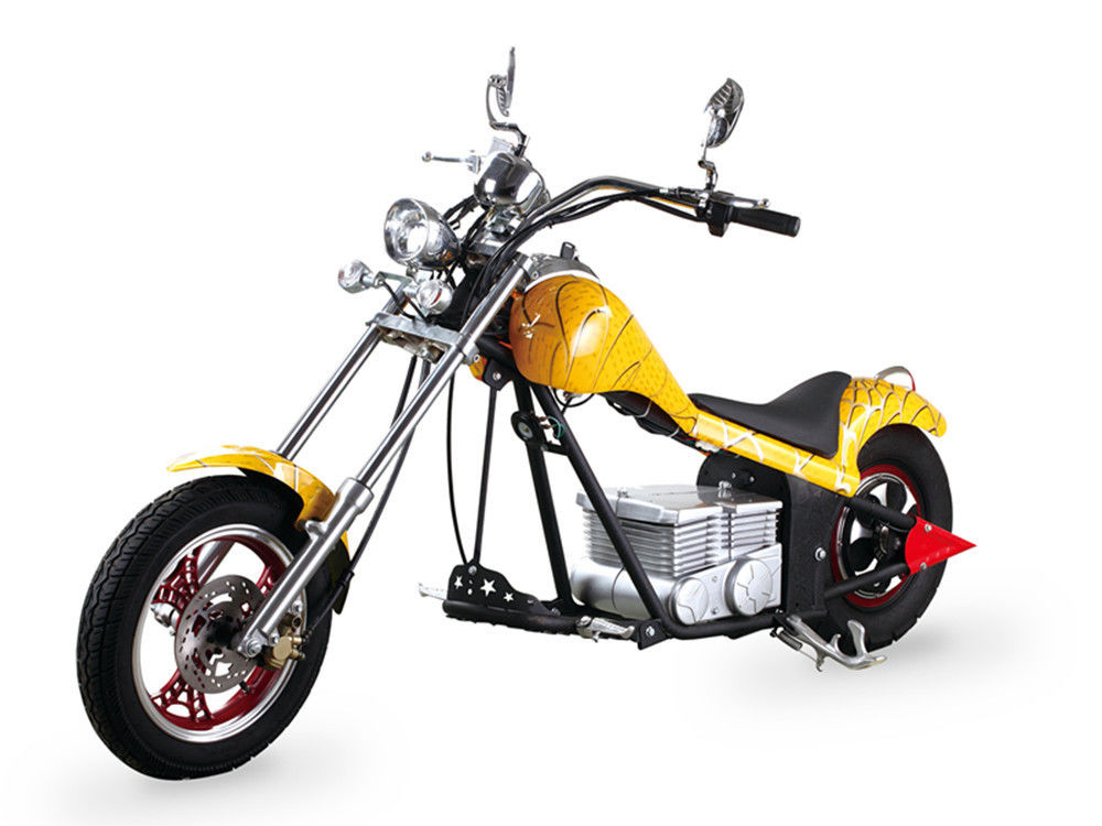 Yellow Coolest Harley Electric Motorcycles 60Km / H With 48V 500W Motor supplier