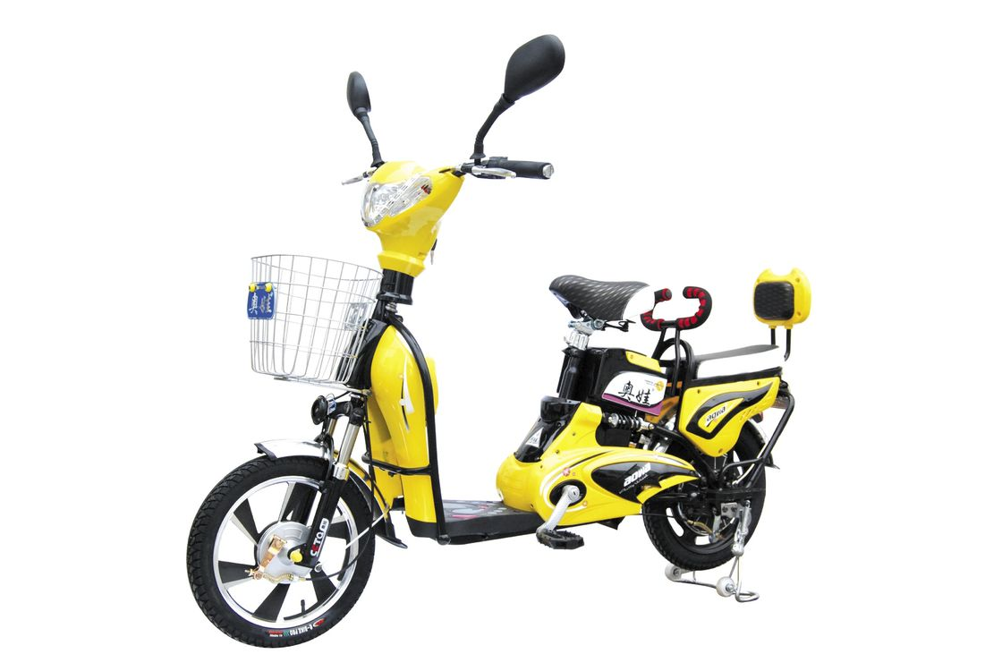 350W 6 T Adult Electric Bike with Pedals / Intelligent Electric Powered Bicycle supplier