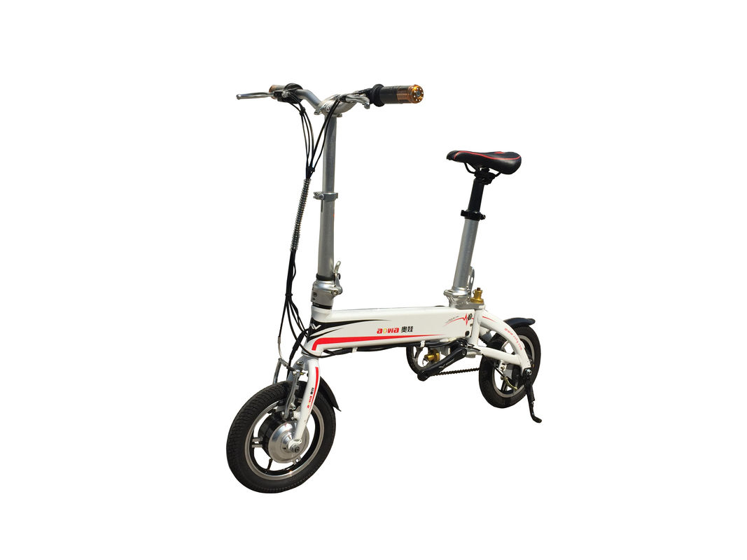 300W Motor Powerful Folding Electric Bike , Pedal Assist Electric Bike Foldable supplier