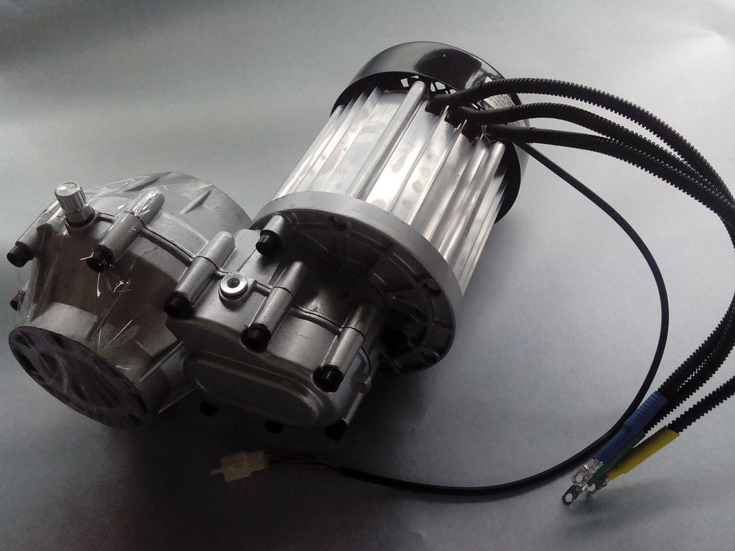Electric Tricycle Parts , 3000RPM Differential Gear DC Brushless Motor supplier