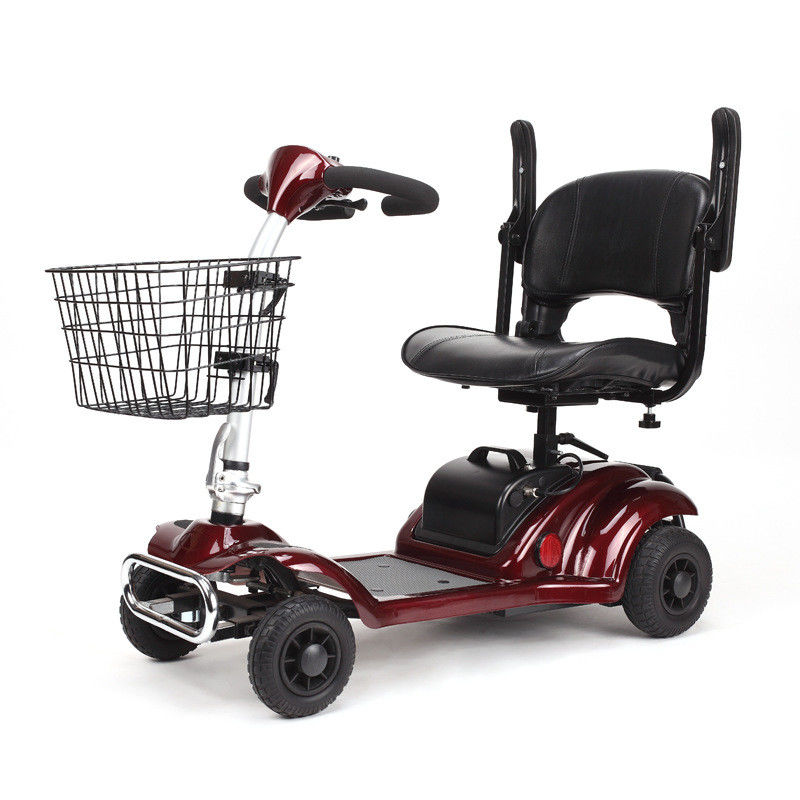 Elders 4 Wheel Electric Scooter Electric Motorized Wheelchair For Disabled