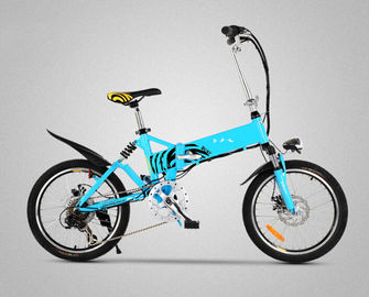 "Long Range Electric Folding Bicycle 20"" Folding E Bike With Shock Absorber"