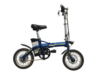 36V 8A Lightweight Folding Electric Bikes , Foldaway Electric Bike Long Range
