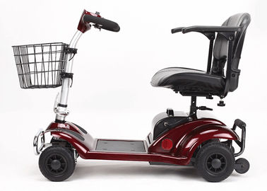 270W Four Wheel Scooters Elderly 4 Wheel Electric Mobility Scooter With Basket